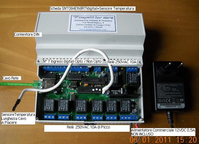 Schema Collegamento Ethernet : Relays ethernet web server rj45 plc progetti hw sw progettazione e
