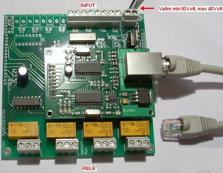 Schema Collegamento Ethernet : Scheda relè ethernet web server rj45 plc progetti hw sw